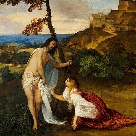 Jesús y María Magdalena por Tiziano